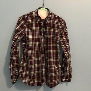 J.Crew Perfect Shirt Tartan Plaid